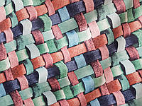Обивочная ткань антикоготь Флок Аризона цвет Бирюзовый для перетяжки мебели производство Турция