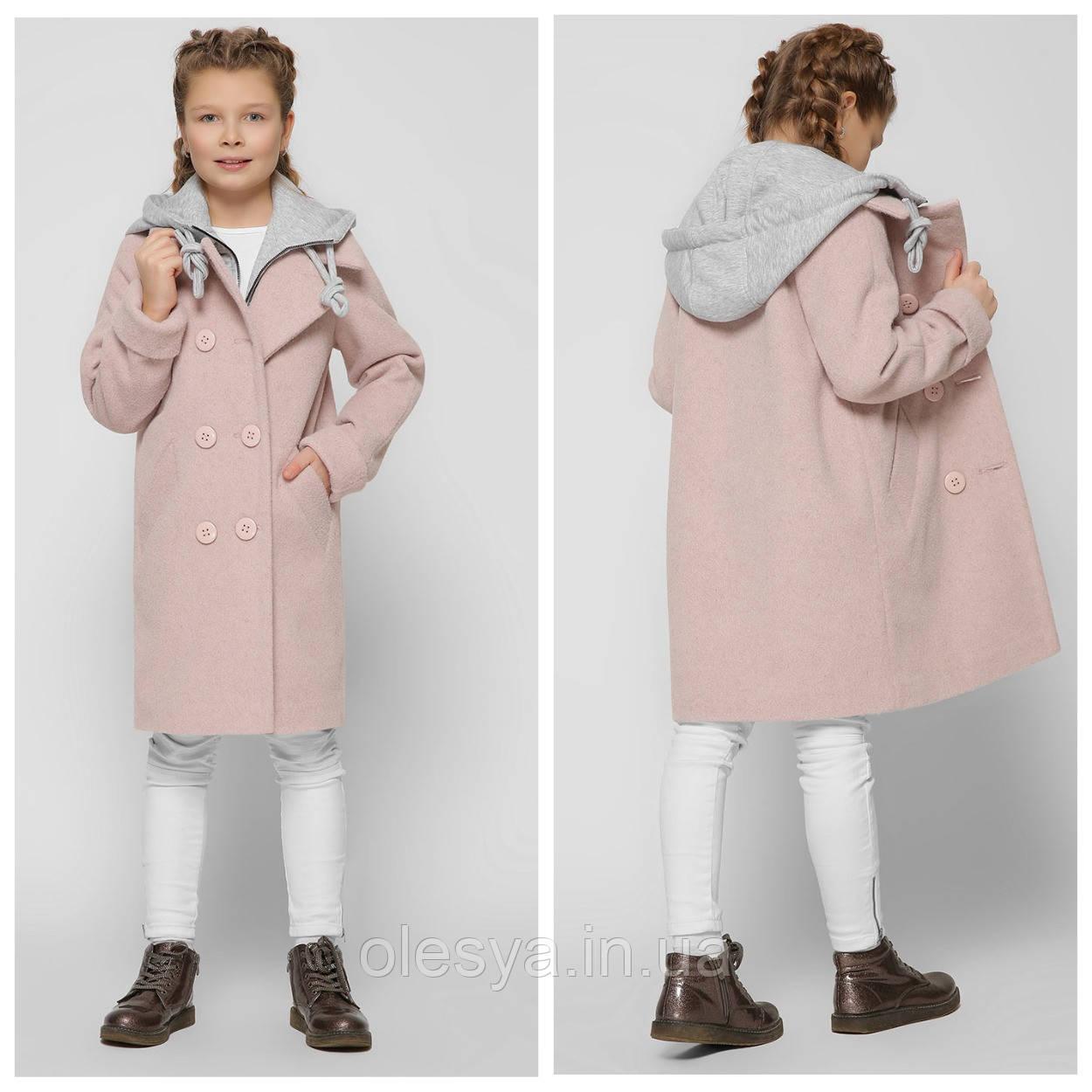 Модное Демисезонное пальто для девочки ТМ X-Woyz 8311 Размеры 122- 164