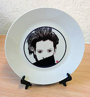 Белая тарелка керамическая D=200мм