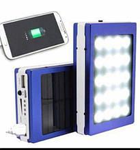 Power Bank Павер банк + мощный фонарь+зарядка от солнца TyT