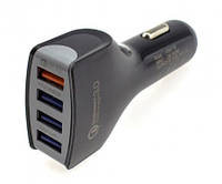 Автомобильное зарядное устройство с быстрой зарядкой Reddax RDX-110 3.5 A на 4 USB с кабелем micro-usb, black