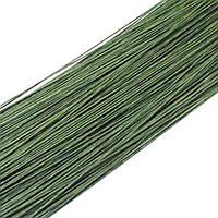 Дріт для квітів зелена №28, 36см (50шт) в папері