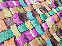 Обивочная ткань антикоготь Флок Аризона цвет Желтый для перетяжки мебели производство Турция