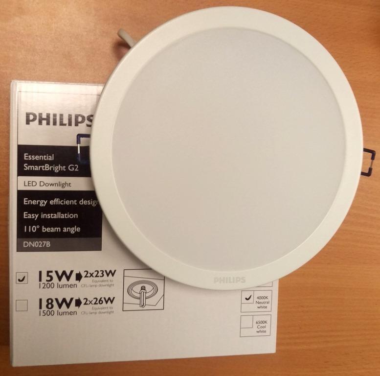 Встраиваемый светильник LED 15 W Philips