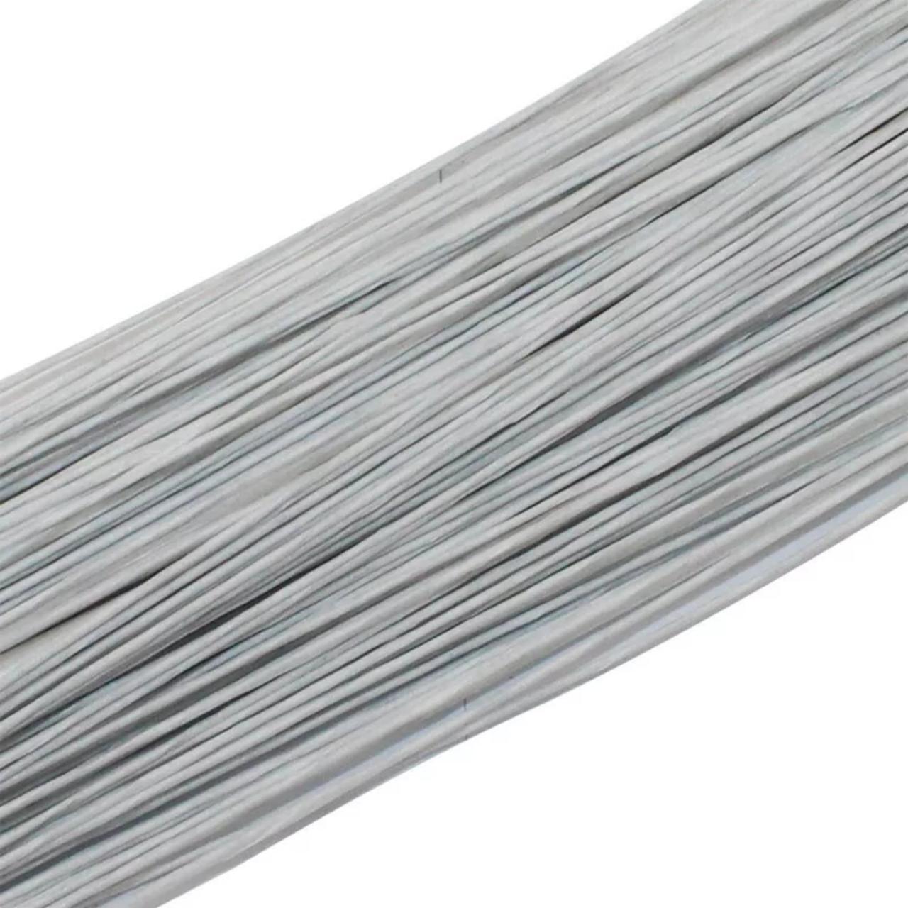 Проволока для цветов белая №30, 36см (50шт) в бумаге