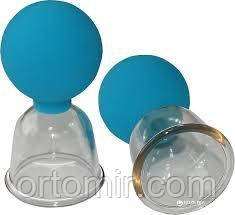 Набор банок антицелюлитная с грушей Д40 (2шт)