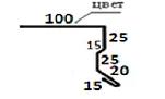 Планка карнизная ПКО-01