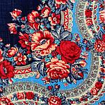 Розовый сад 1901-14, павлопосадский платок шерстяной с шерстяной бахромой, фото 7