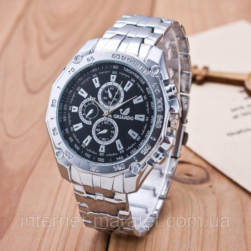 Мужские часы Orlando белый циферблат серебристые mw2-01