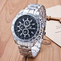 Мужские часы Orlando белый циферблат серебристые mw2-01, фото 1