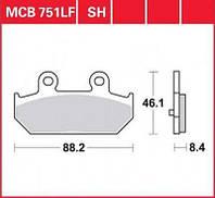 Тормозные колодки задние SUZUKI AN 400/650 Burgman LUCAS MCB751