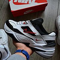 "Мужские кроссовки Nike Air Monarch IV ""White/Black"" белые с черным. Живое фото. Топ реплика ААА+"