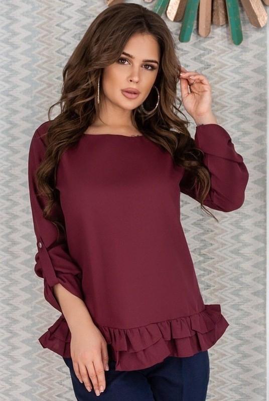 Оригинальная блузка с рюшей