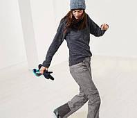 Штаны лыжные женские серого цвета, Crivit, размер евро 38, укр 44