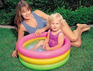 Яркий и разноцветный надувной бассейн «Радуга» INTEX 57107
