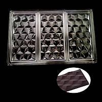 Плитка Грани поликарбонатная форма для  шоколада, фото 1