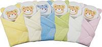 """Конверт - одеяло для новорожденного с подушкой  махровый (желтый ) """"Duetbaby"""""""