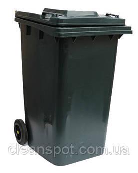Бак для мусора  пластиковый 240л., темно-серый. 240H2-19DG