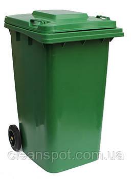 Бак для мусора пластиковый 240 л., зеленый. 240H2-19G.