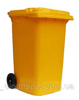 Бак для сміття пластиковий 240л., жовтий. 240H2-19Y