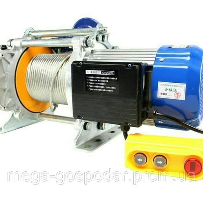 Лебедка электрическая KCD-1500кг, электрический тельфер 220В / 30м трос