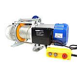 Лебедка электрическая KCD-1500кг, электрический тельфер 220В / 30м трос, фото 2