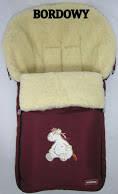 Спальный мешок-конверт на овчине Original № 6 Aurora (excluzive) Womar (Zaffiro) бордо