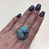 Бирюза кольцо с бирюзой 17,5-18 размер натуральная бирюза в серебре, фото 3