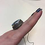 Бирюза кольцо с бирюзой 17,5-18 размер натуральная бирюза в серебре, фото 2