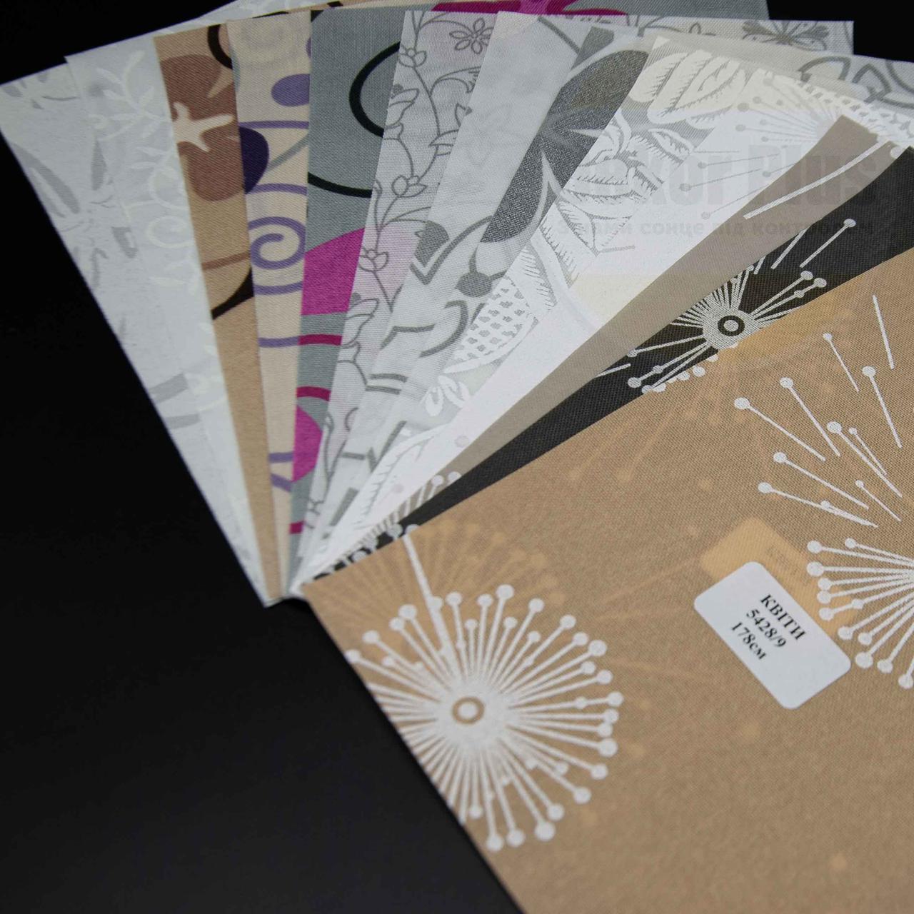Рулонні штори Квіти (13 варіантів кольору)