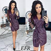 Сукня жіноча з запахом (4 кольори) ЕФ/-492 - Марсала, фото 1
