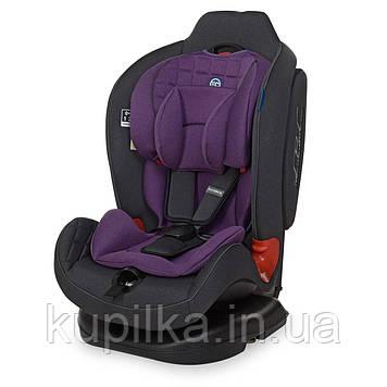 Автокресло детское El Camino TALISMAN ME 1065 группа 0+/1/2, 0-25 кг, Purple, ткань лен