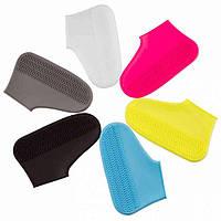 Многоразовые бахилы на обувь от воды + защитная маска Waterproof Silicone Shoe