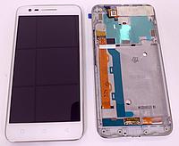 Оригінальний дисплей (модуль) + тачскрін (сенсор) з рамкою для Lenovo C2 | K10a40 (білий колір, сервісний)