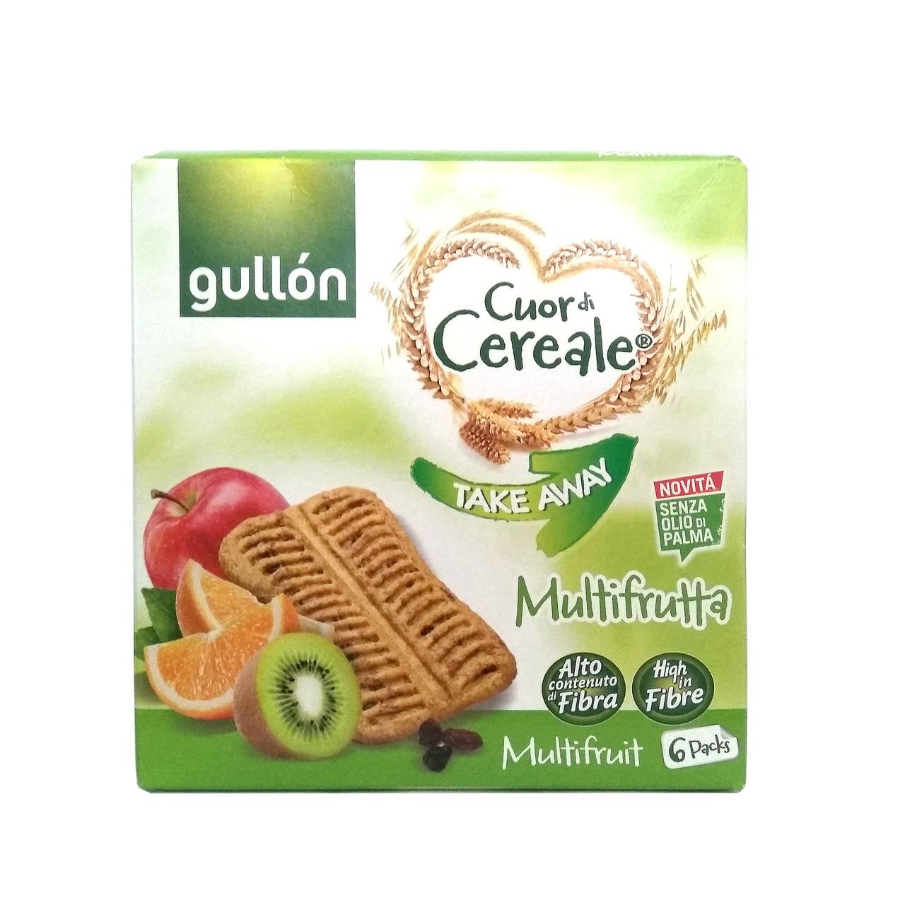 Печиво GULLON Takeaway Multifruta fibra, 144г (8шт)