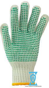 Рукавички робочі синтетика білі з пвх покриттям (4work)