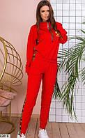 Женский спортивный костюм красный 63619