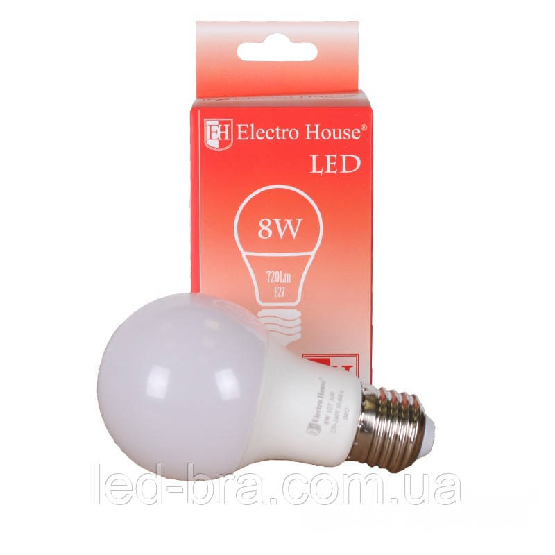 LED лампа Стандартная (груша) G45 E27 8 Вт 4100К