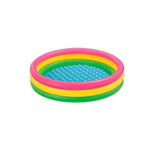 Бассейн Intex 57412 «Весёлые колечки» яркий надувной детский