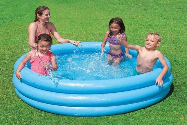 """Детский надувной бассейн Intex 58446 """"Кристалл"""" 168Х38 см с высококачественного винила, фото 2"""