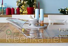 Мягкое стекло 1,5 мм, прозрачное покрытие для защиты деревянных и стеклянных столов, м'яке скло,ширина 100см