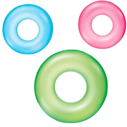 Надувний круг 36024 матовий однотонний