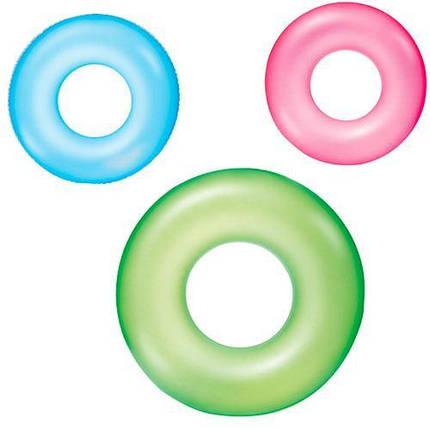 Надувний круг 36024 матовий однотонний, фото 2