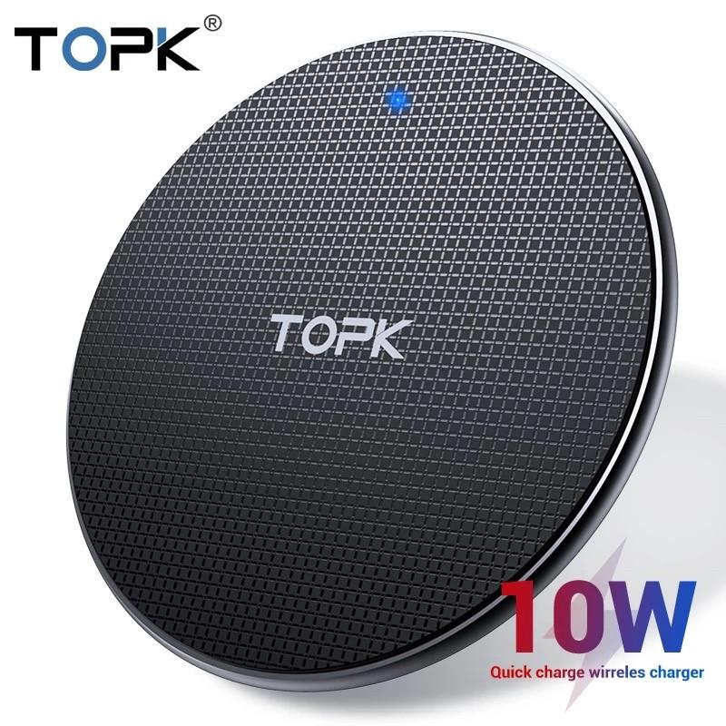 Беспроводное зарядное устройство TOPK 10 Вт Qi подставка