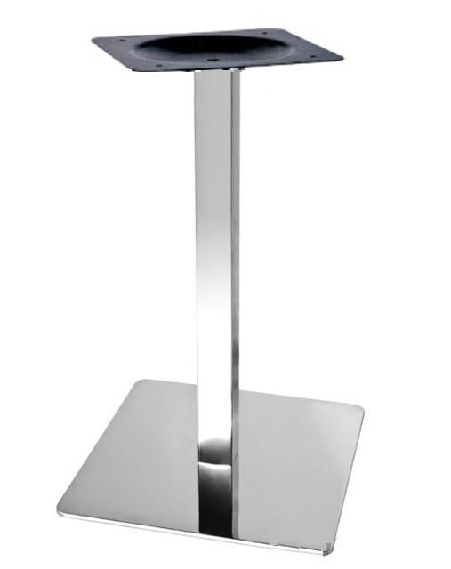 Опора для стола Кама (нержавеющая сталь inox) (высота 72 см, основание 40*40 см)