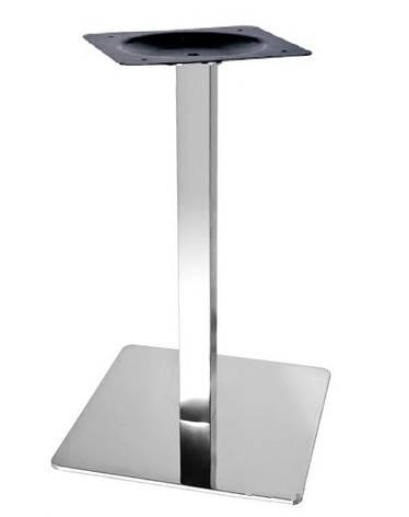 Опора для стола Кама (нержавеющая сталь inox) (высота 72 см, основание 40*40 см), фото 2