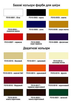 "Краска для кожи автомобиля 1л.""Dr.Leather"" Touch Up Pigment Охра жовта, фото 2"