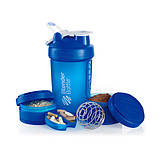 BlenderBottle ProStak (650ml) Шейкер з 2-ма контейнерами, таблетницей і пружиною, фото 2