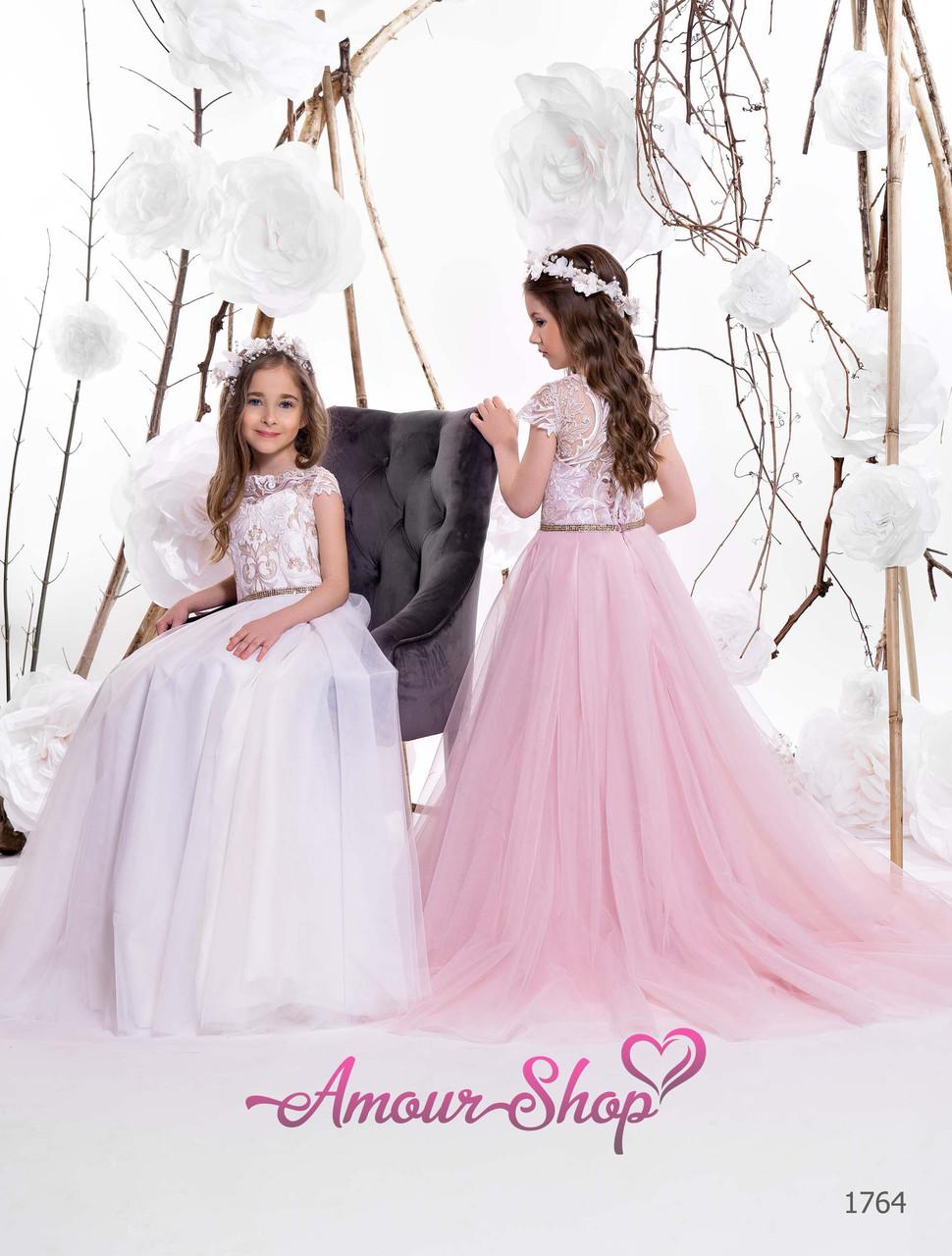 Дитяче довге вечірнє плаття на 2-3, 4-5, 6-7, 8-9, 10-11, 12-13 років