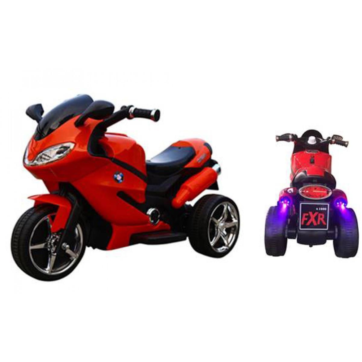 Детский мотоцикл с Ева колесами T-7225 красный